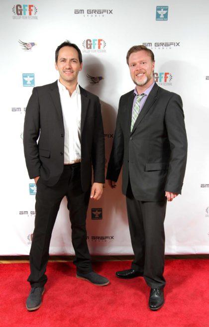 Barney Crow and Nicholas Thurkettle at the Gallup Film Festival